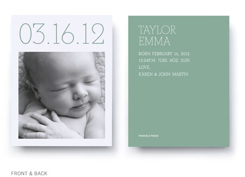 day and date birth announcement