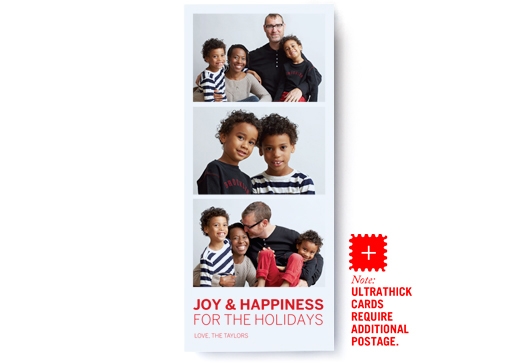 Image of Modern Triptych Photo Card – Ultrathick