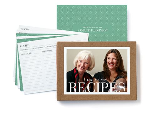 Recipe Cards And Box Personalized Personalized Recipe Cards And
